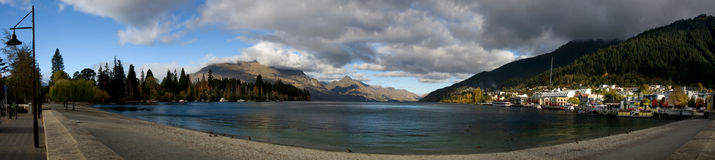 Panorama de Queenstown Photographie stock