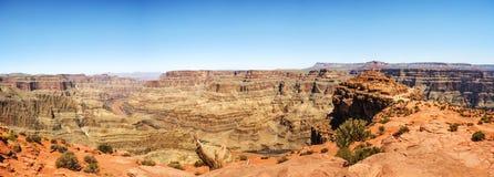 Panorama: De Rand van Eagle Point - Grand Canyon -van het Westen, Arizona, AZ Royalty-vrije Stock Foto