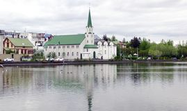 Panorama de Reykjavik foto de stock royalty free