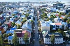 Panorama de Reykjavik fotografía de archivo