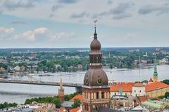 Panorama de Riga Fotos de Stock Royalty Free