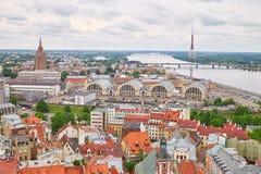 Panorama de Riga Foto de Stock