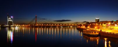 Panorama de Riga Images libres de droits