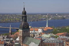 Panorama de Riga Imagen de archivo libre de regalías