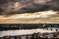 Panorama de Riga, Lettonie Photographie stock