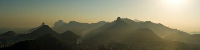 Panorama de Rio de Janeiro Fotografia de Stock