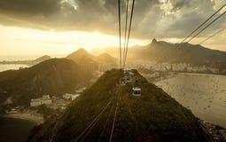Panorama de Rio de janeiro da montanha de Sugarloaf Fotos de Stock