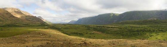 Panorama de River Valley de la trucha Imágenes de archivo libres de regalías