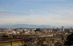 Panorama de Roma Foto de archivo libre de regalías
