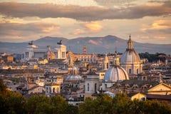 Panorama de Roma Fotos de Stock Royalty Free