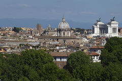 Panorama de Roma Fotografia de Stock