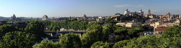 Panorama de Roma antes do crepúsculo Imagem de Stock Royalty Free