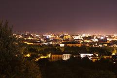 Panorama de Roma na noite de Gianicolo Foto de Stock Royalty Free