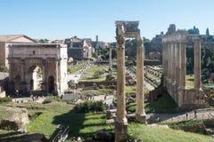 Panorama de Roman Forum photographie stock libre de droits