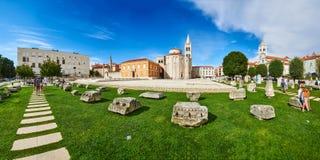 Panorama de Roman Forum, Zadar imagens de stock royalty free