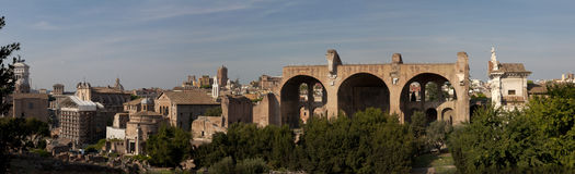Panorama de Rome Photo stock