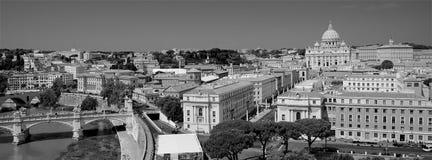 Panorama de Rome en noir et blanc photos stock