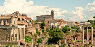 Panorama de Rome - romanum de forum Photographie stock libre de droits