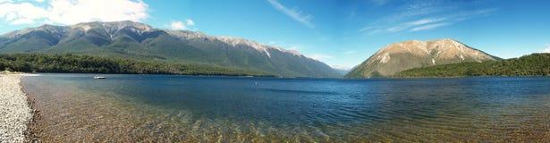 Panorama de Rotoiti do lago Imagens de Stock Royalty Free