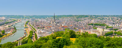 Panorama de Rouen Photographie stock libre de droits