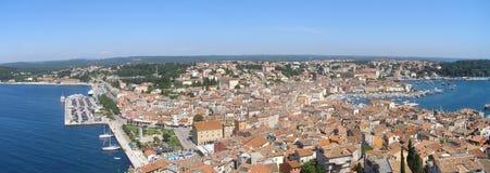 Panorama de Rovinj Fotos de archivo