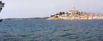 Panorama de Rovinj - de Croatia Imagen de archivo