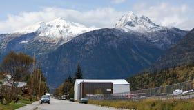 Panorama de rue de l'Alaska Images stock