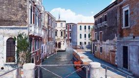 Panorama de rue vide à Venise, Italie illustration stock