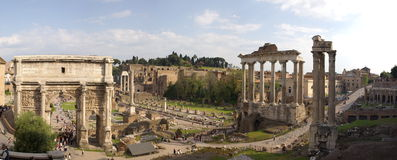 Panorama de ruines de Rome Images stock
