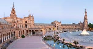 Panorama de Séville Espagne de plaza d'Espana Images libres de droits