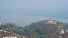 Panorama de Sagaing, Myanmar almacen de video