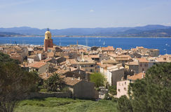 Panorama de saint-tropez Images libres de droits