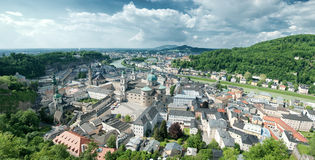 Panorama de Salzbourg Photographie stock