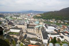 Panorama de Salzburg. Áustria. imagem de stock royalty free