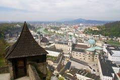 Panorama de Salzburg. Áustria. imagens de stock royalty free