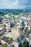 Panorama de Salzburg Fotos de Stock Royalty Free