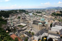 Panorama de Salzburg Fotos de Stock