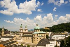 Panorama de Salzburg imagem de stock