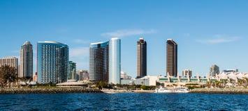 Panorama de San du centre Diego Waterfront Skyline photos stock