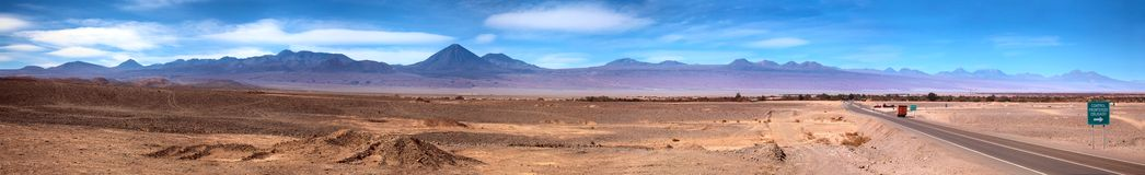 Panorama de San Pedro de Atacama, Chile Imágenes de archivo libres de regalías