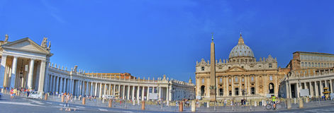 Panorama de San Pietro Square Foto de archivo