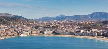 Panorama de San Sebastian Photographie stock