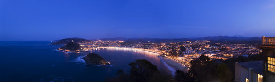 Panorama de San Sebastian Fotos de Stock Royalty Free