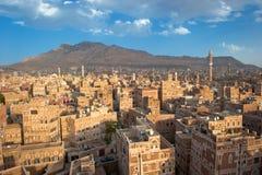 Panorama de Sanaa, Yémen Photographie stock