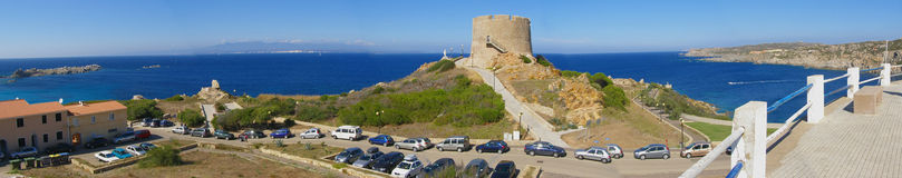 Panorama de Santa Teressa Gallura - Sardinia, Italy Imagem de Stock Royalty Free