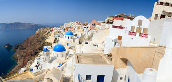 Panorama de Santorini Photographie stock