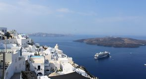 Panorama de Santorini images stock