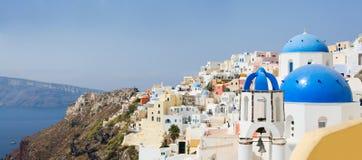 Panorama de Santorini Image stock