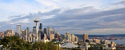 Panorama de Seatte fotografía de archivo