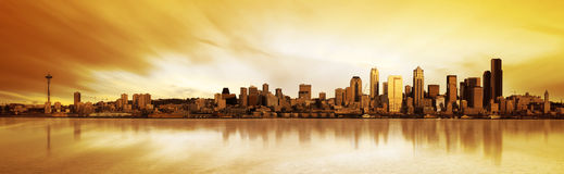 Panorama de Seattle Images libres de droits